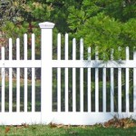 This traditional wood fence with square pickets would be a perfect accent