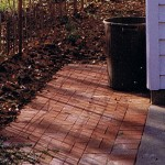 Paver storage pad: an atrractive solution providing a tidy look