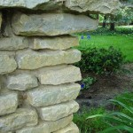 Wall stone used to build a stone column