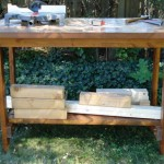 Moved the workbench outside to work on a particular project