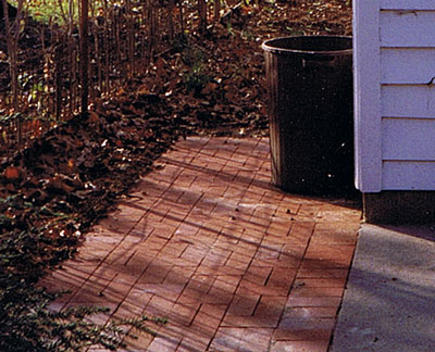 Paver Trash Can Storage Area Better Outdoor Living At Home