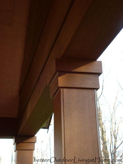 Repairing Woodpecker Damage To A Porch S Cedar Clad Beams