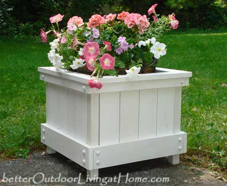 Diy outdoor planter box diy plans for planter box for How to make beautiful flower pots at home