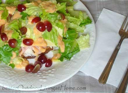 open-face-salad-sandwich-knife -fork