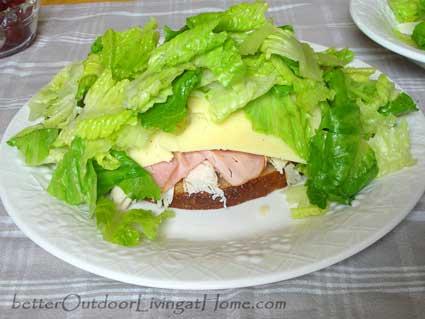 open-face-salad-sandwich-lettuce