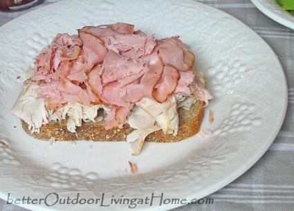 open-face-salad-sandwich-turkey ham
