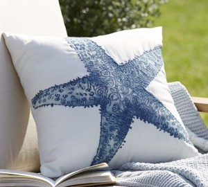 starfish pillow pottery barn