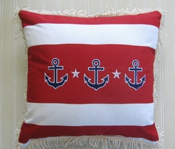 stripe anchor home by the seashore