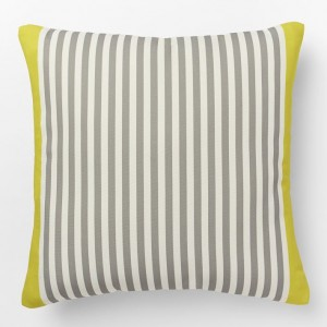yellow grey pillow westelm